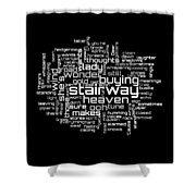 Led Zeppelin - Stairway To Heaven Lyrical Cloud Shower Curtain