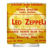 Led Zeppelin Ticket Shower Curtain