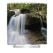 Ledge Brook - White Mountains New Hampshire Usa Shower Curtain