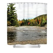 Ledge Falls Hollow, Baxter State Park Shower Curtain