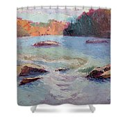 Ledges Afternoon Light Shower Curtain