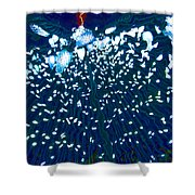 Led's Of Christmas Shower Curtain