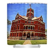Lee County Courthouse Giddings Texas 2 Shower Curtain