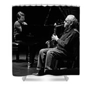 Lee Konitz 1 B And W Shower Curtain