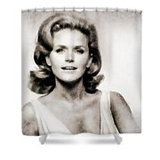 Lee Remick, Vintage Actress Shower Curtain