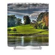 Leeds Castle Lake View Shower Curtain