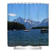 Leek Marina Shower Curtain