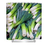 Leeks At The Farmer's Market Shower Curtain