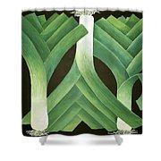 Leeks Shower Curtain