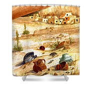 Left Behind - Indian Pottery Shower Curtain