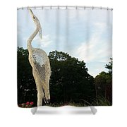 Left Crane Shower Curtain