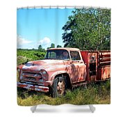 Left In The Field Shower Curtain
