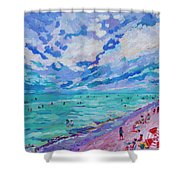 Left Panel Of Triptych Busy Relaxing Shower Curtain