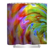 Left Side Faerie Wing Shower Curtain