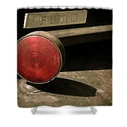 Left Turn Signal Shower Curtain