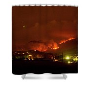 Lefthand Canyon Wildfire Boulder County Colorado 3-11-2011 Shower Curtain by James BO  Insogna