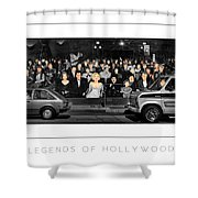 Legends Of Hollywood Poster Shower Curtain