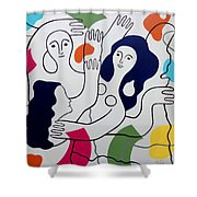 Leger Light And Loose Shower Curtain by Tara Hutton