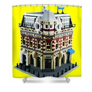 Lego Corner Shop And Apartments Shower Curtain