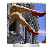 Legs Haight Ashbury Shower Curtain by Garry Gay