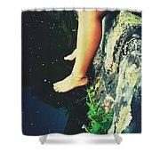 Legs Over Water Shower Curtain