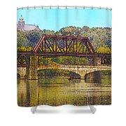 Lehigh River - Easton Pa Shower Curtain