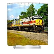 Lehigh Valley/ Lackawanna Engines Shower Curtain