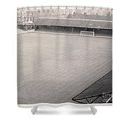 Leicester City - Filbert Street - Filbert Street End 1 - Bw - 1960s Shower Curtain