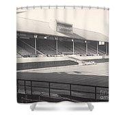 Leicester City - Filbert Street - Main Stand 1 - Bw - 1960s Shower Curtain