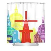 Leiden Skyline Pop Shower Curtain
