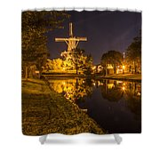Leiden Windmill By Night Shower Curtain