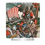 Leif Ericsson, The Viking Who Found America Shower Curtain