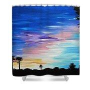 Lejeune Sunset Shower Curtain
