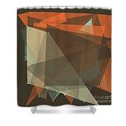 Lemans Polygon Pattern Shower Curtain