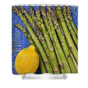 Lemon And Asparagus  Shower Curtain