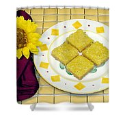 Lemon Candy Bars Shower Curtain