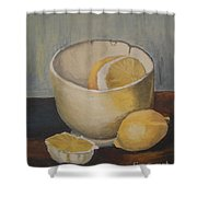 Lemon In A Bowl Shower Curtain