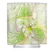 Lemon Lime Curly Shower Curtain