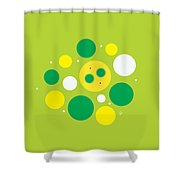 Lemon Lime Fizz Shower Curtain