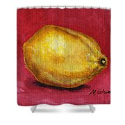 Lemon Pink Shower Curtain