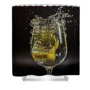 Lemon Spash Shower Curtain