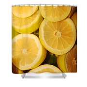 Lemon Still Life Shower Curtain