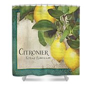 Lemon Tree - Citronier Citrus Limonum Shower Curtain