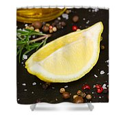 Lemon With Spices  Shower Curtain