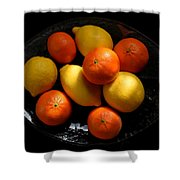 Lemons And Oranges On A Platter Shower Curtain