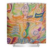 Lemurian Dreamer Shower Curtain