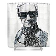 Lena Noble, Portrait Shower Curtain