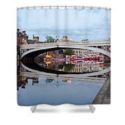 Lendal Bridge Reflection  Shower Curtain