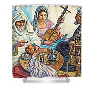 L.endres Maroc Painting Shower Curtain