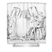 Lener String Quartet Shower Curtain by Granger